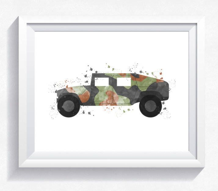Military car print, Hummer printable, military wall art, army car print, Hummer car printable, boy room wall art, mlitary Hummer print by HappyLittleFrog on Etsy