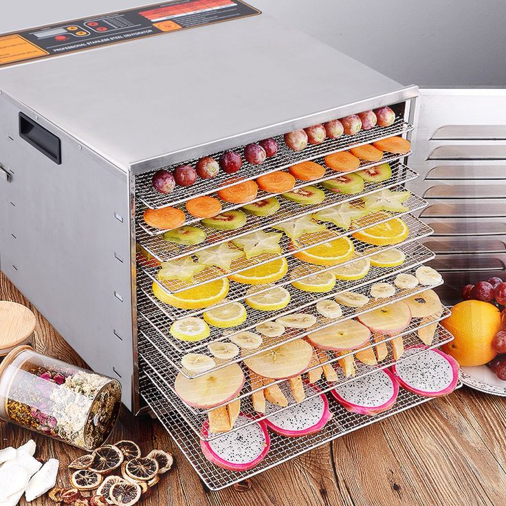 10 Tray Food Dehydrator Stainless Steel Fruit Jerky Dryer Blower Commercial - Kitchen & Dining - Home & Garden
