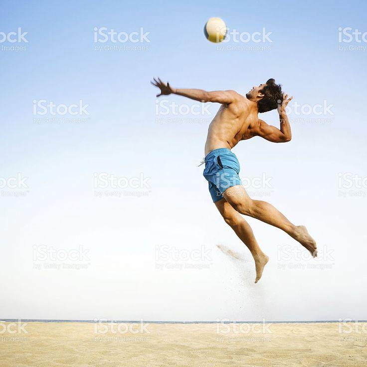 Voleibol de playa foto de stock libre de derechos