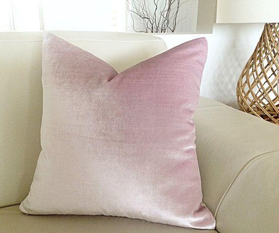 Velvet Cushions Pink Velvet Pillows Bedroom by MyBeachsideStyle