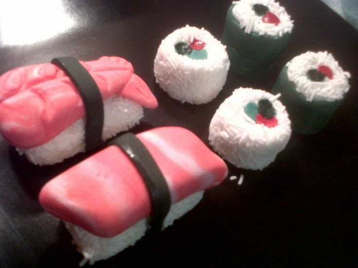Sushi Cupcake Toppers