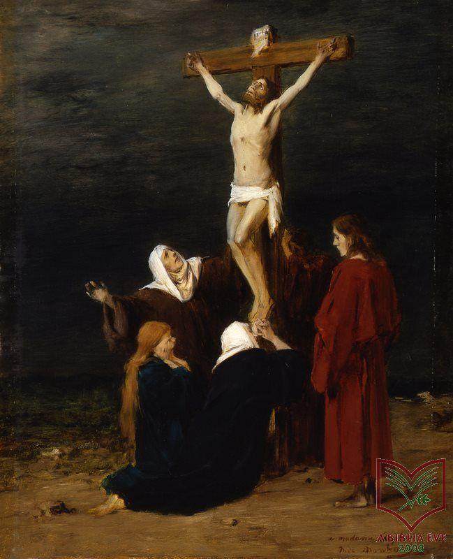 A Biblia a magyar festészetben A királyok második könyve 1,10  Munkácsy Mihály (1944-1900) - Krisztus a keresztfán