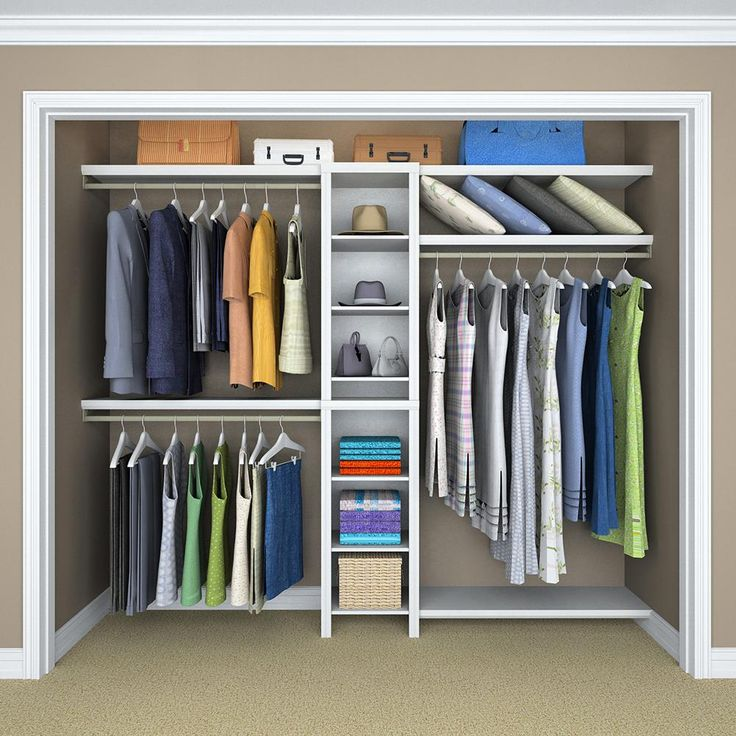 Best 25 narrow closet ideas on pinterest master closet for Best closet organization systems