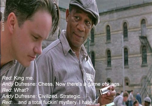 Red: King me. Andy Dufresne: Chess. Now there's a game of kings. Red: What? Andy Dufresne: Civilized. Strategic… Red: …and a total fuckin' mystery. I hate it. IMDb: 9.3/10 Relase Date:14 October 1994 Directors:Frank Darabont Two imprisoned men bond overContinue reading