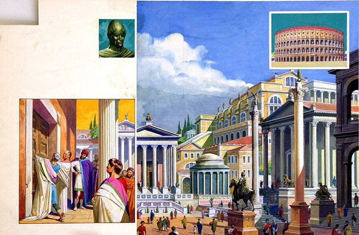 Ancient Rome (Original) art by Severino Baraldi