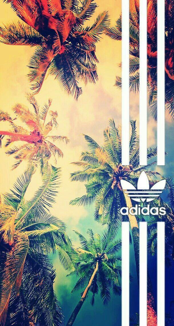 Fond d'écran Adidas avec des palmiers| By Marya 💛 – #adidas #avec #d39écran…