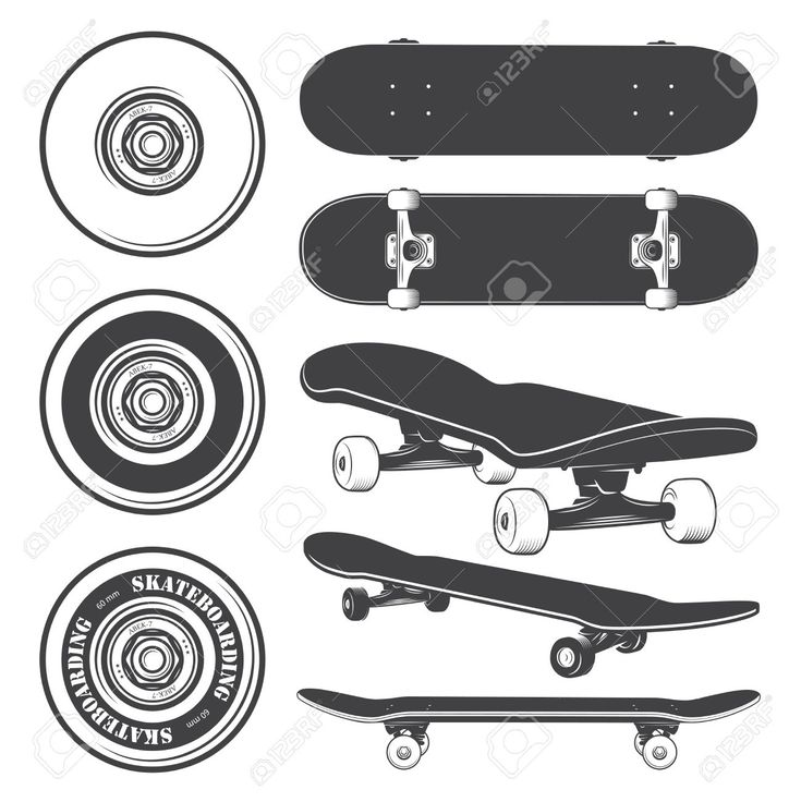skateboard wheel vector - Google Search