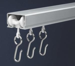 $29.95 ceiling curtain track - I've been looking everywhere for a curtain rod like this!