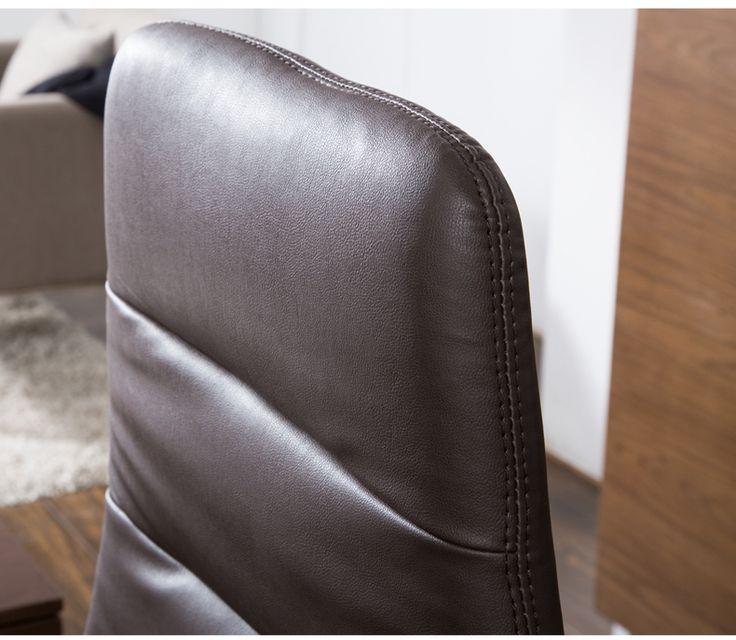 Кожаная обивка и прошивка спинки офисного удобного кресла