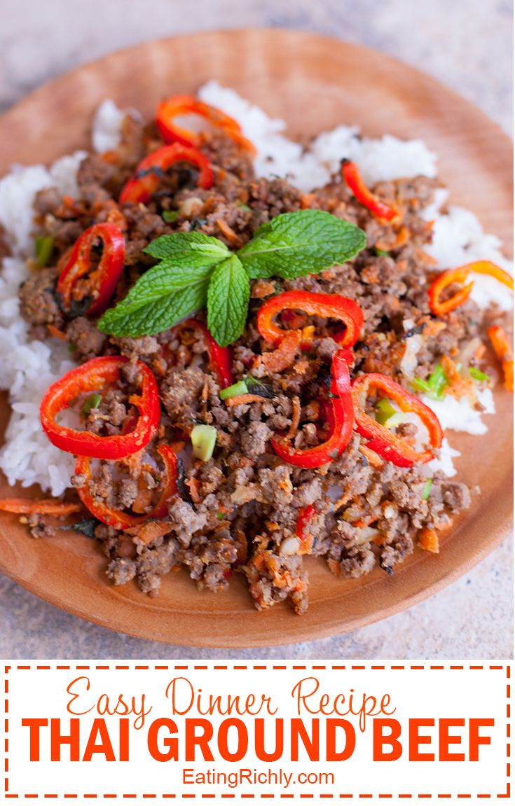 Easy Ground Beef Thai Dinner Ground Beef Recipes Best Beef Recipes Beef Recipes