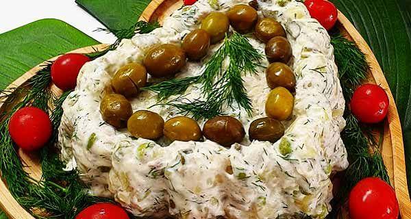 طرز تهیه سالاد سیب زمینی با پیازچه و جعفری Dinner Recipes Dinner Salad