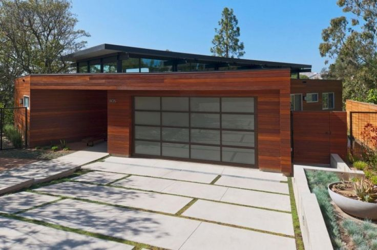 Solid Wood Garage Material With Frame modern broom way house design with Solid wood Home design http://seekayem.com
