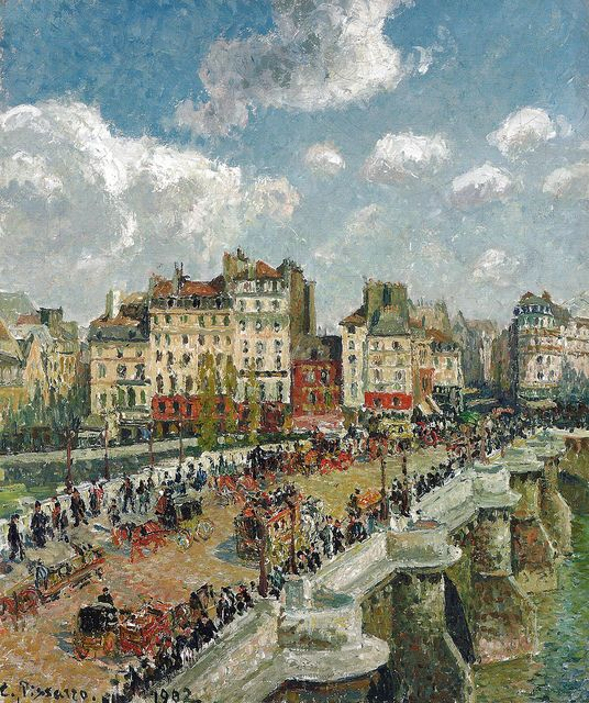 ۩۩ Painting the Town ۩۩ city, town, village & house art - Camille Pissarro | Pont Neuf