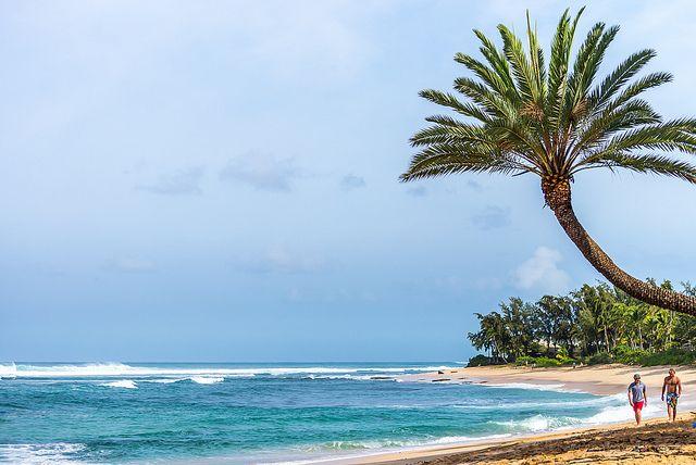 Sunset Point, North Shore, Oahu Island, Hawaii