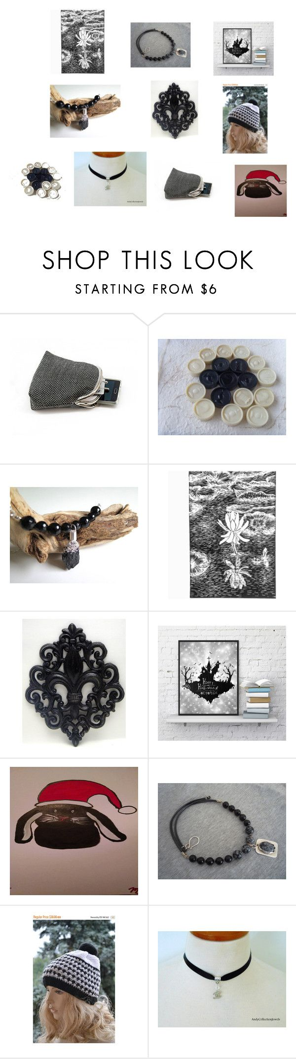 Black and White Collection by iridonousajewelry on Polyvore