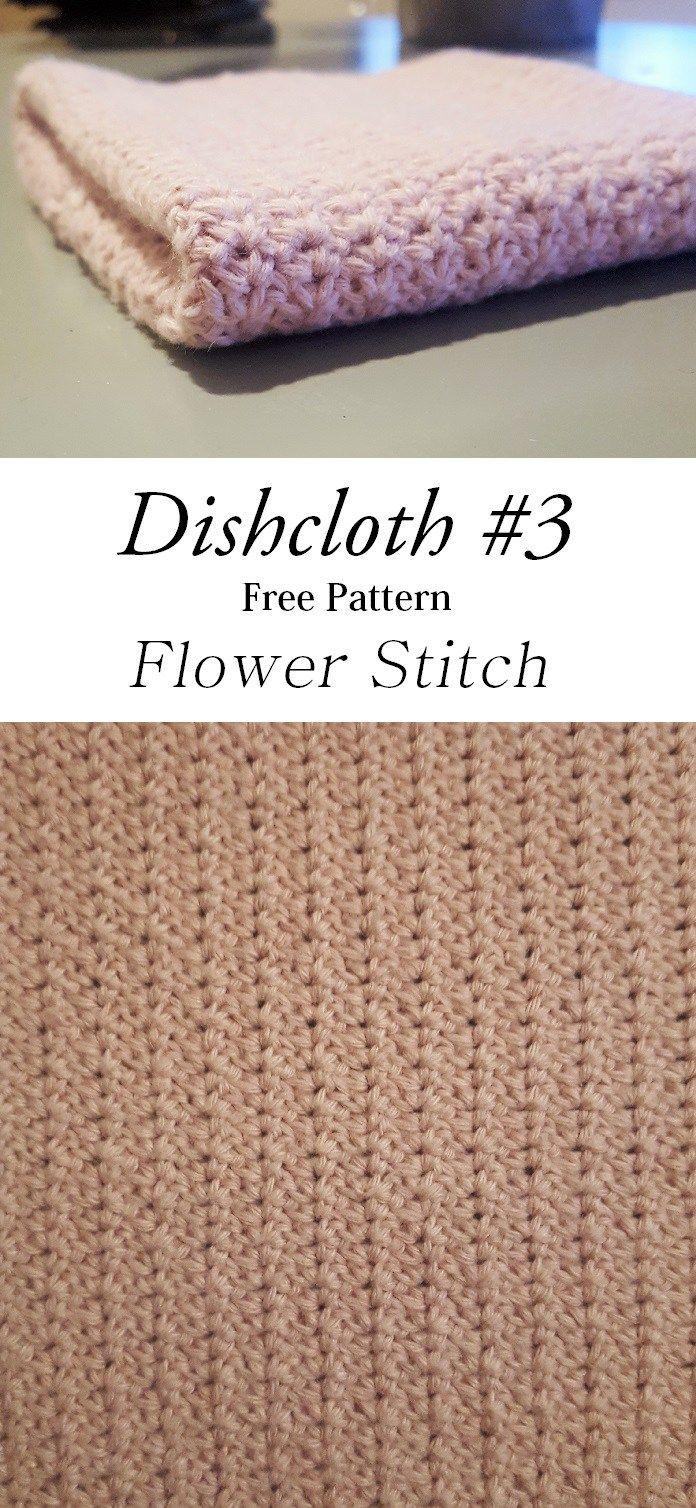 dishcloth flower stitch