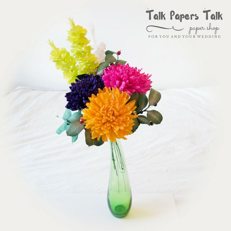 Chrysanthemum www.talkpaperstalk.etsy.com #paperflowers #crepepaperflowers…