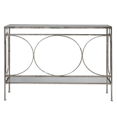 Uttermost Luano Silver Console Table On SALE