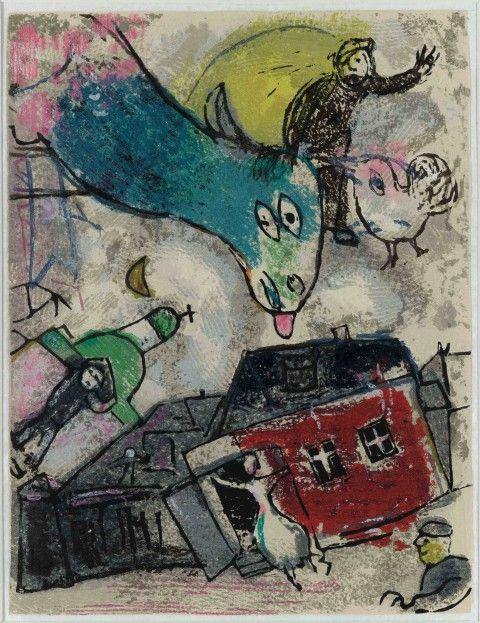 Marc Chagall - Poesie, decima illustrazione - 1968 - Musée national Marc Chagall, Nizza