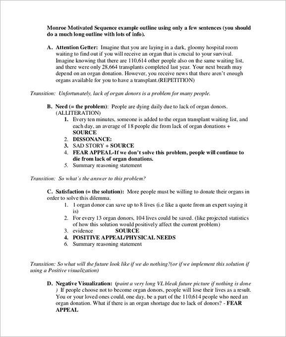 Pdf Doc Free Premium Templates Speech Outline Persuasive Speech Topics Essay Outline