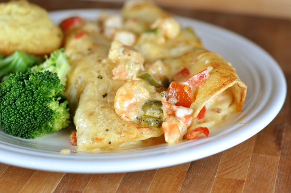 Shrimp Enchiladas- best recipe I've ever found for these
