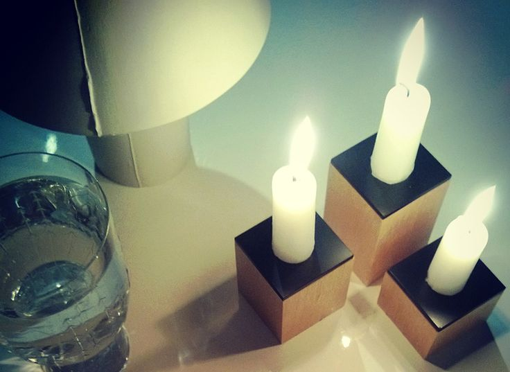 Domino. candle holders designed by Hanna-Marie Naukkarinen, Niko Hakala and Marianne Mäensivu
