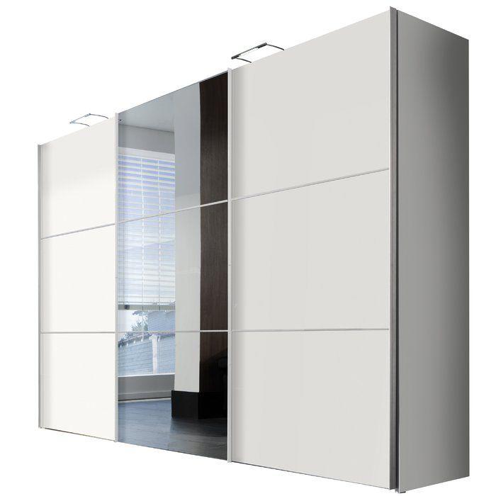Schwebeturenschrank Solutions Bianco Schwebeturenschrank Kleiderschrank Mit Spiegel Kleiderschrank Schwebeturen