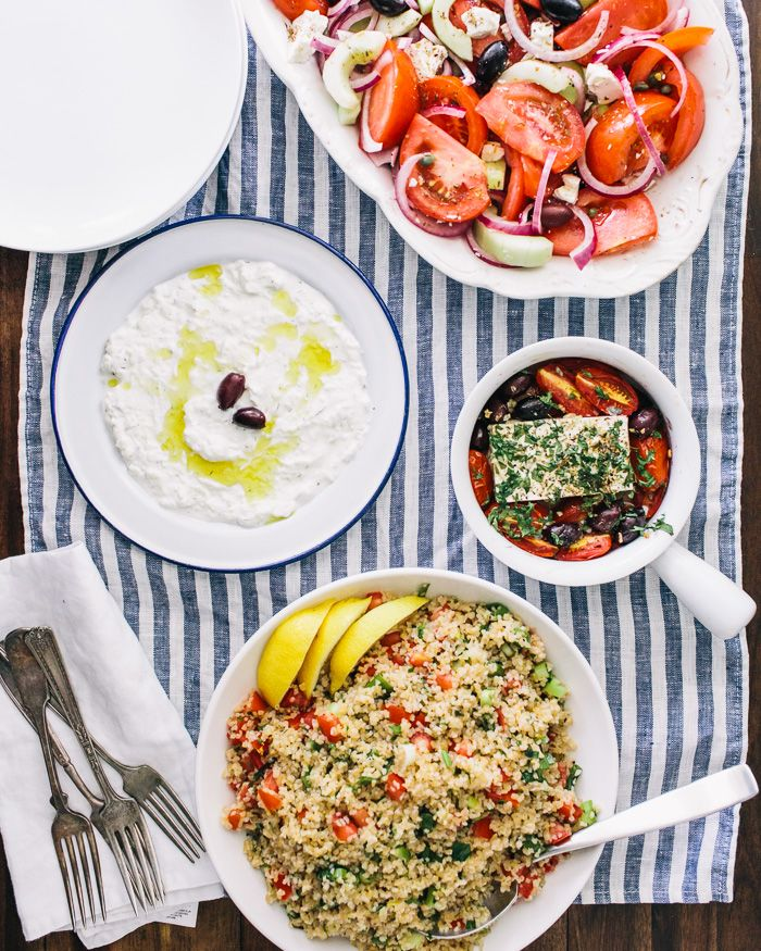 Thanks for following along on our journey to Greece! As a finale of the recipes we\'ve been posting over the past few weeks, we\'ve included them here as a menu for a summer day or evening:Authentic Tzatziki (Greek Yogurt Cucumber Dip) with pita and/or vegetablesBaked Feta with TomatoesGreek SaladMediterranean Bulgur ...