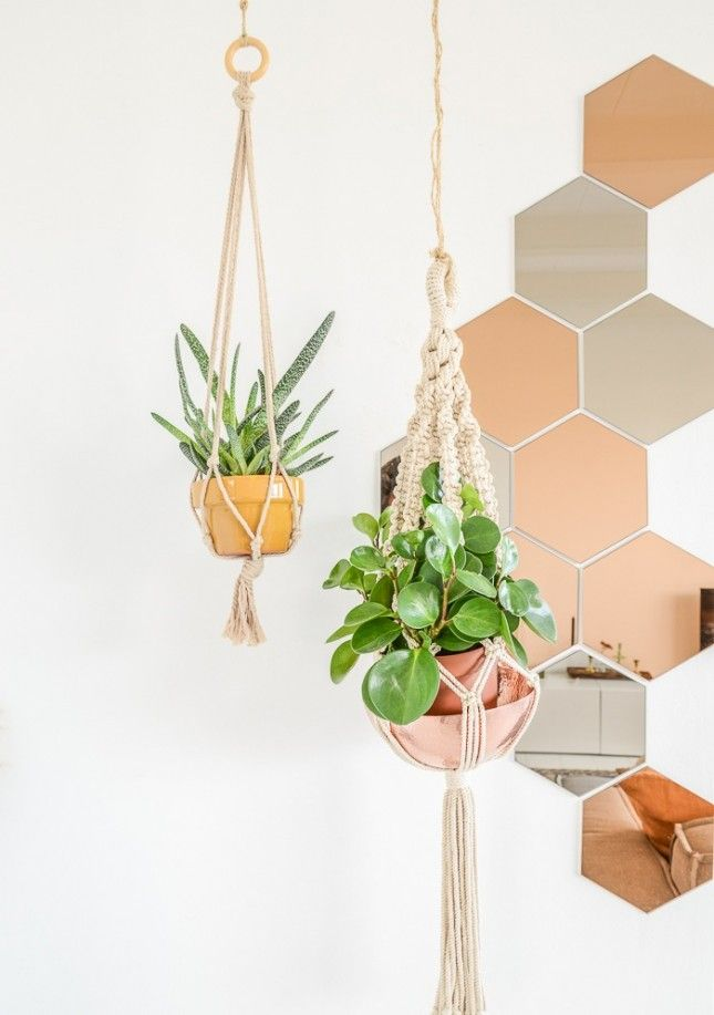 Make your indoor plants really pop with this copper mirror IKEA hack.