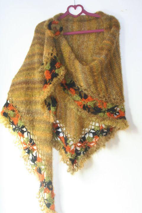 Sal tricotat, crosetat  mohair