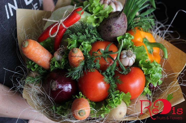 """Овощной букет """"Борщ""""! Фруктовые букеты Одесса.  Овощные букеты Одесса."""