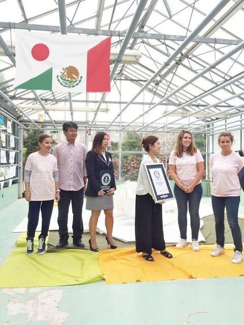 """Machiko Ikeoka y un equipo de Sanki México celebran un nuevo Guinness Wold Record con la Flor de Origami más grande en el Huerto del Rey en Versalles   PARIS Noviembre de 2016 /PRNewswire/ - Machiko Ikeoka y un equipo de Sanki México participaron en el logro de un nuevo Guinness Wold Record([TM]) por """"La Flor de Origami más grande"""" el 1ero de Octubre de 2016 en el fantástico Huerto del Rey en Versalles Francia.  El equipo mexicano y los jardineros del Huerto del Rey crearon un evento…"""