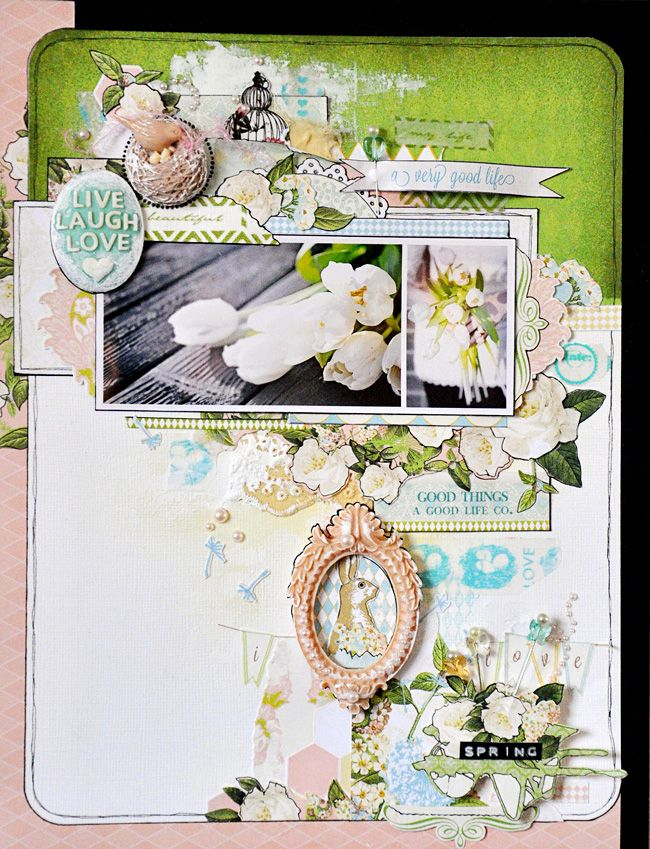 'Spring' by Emma Trout: **NEW Webster's pages 'New Beginnings' CHA-W 2013**  Thank you for pinning my layout! :)