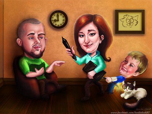portrait family by Soulinka