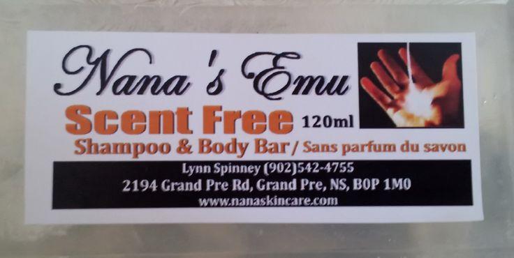 Scent Free Shampoo & Body Bar... $5.00 each http://www.nanaskincare.com/
