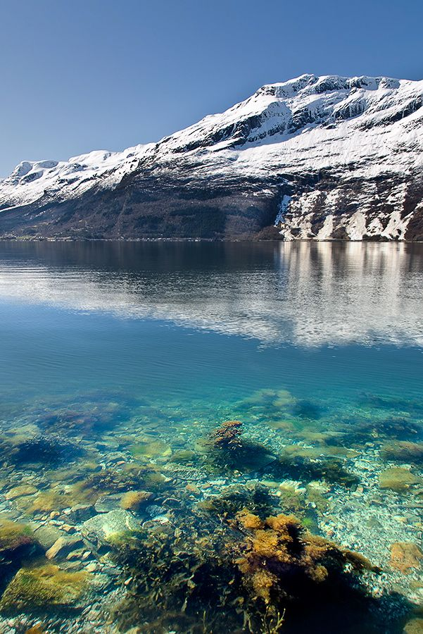 Glacier of Norway and the White Water Lake