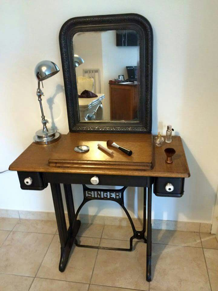 17 meilleures images propos de tables machine coudre - Table machine a coudre singer ...