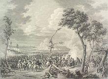 Drouot et ses artilleurs chargés par la cavalerie bavaroise à la bataille de Hanau