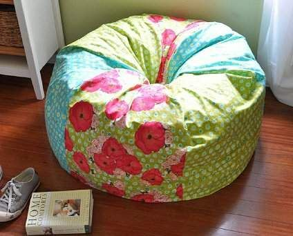 Links To A Tutorial For DIY Adult Size Bean Bag Chair