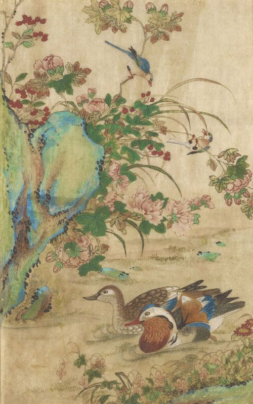 korean-painting-of-flowers-and-birds.jpg (500×798) Shin Saimdang