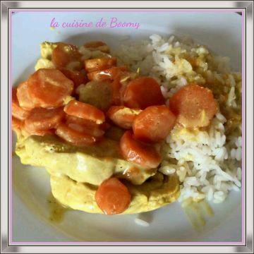 Poulet aux carottes sauce curry (Cookeo)