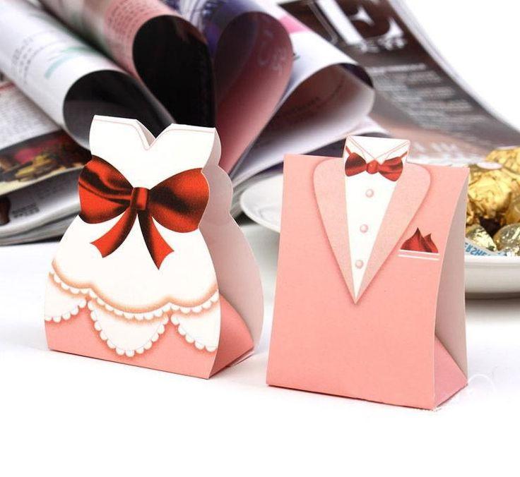 Жених и невеста Candy Box для венчания и подарки Свадьба украшение стола Свадебные сувениры свадебных подарков для гостей
