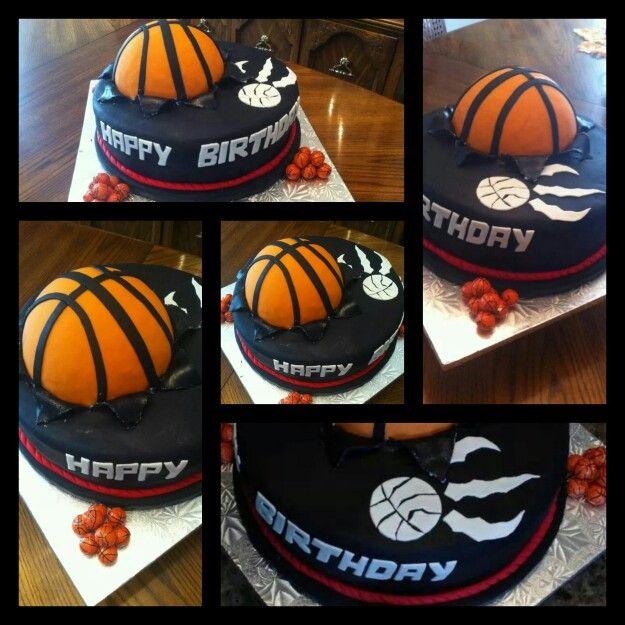 Toronto raptors birthday cake. Basketball cake