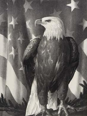 Bird of Freedom, 1942,Stow Wengenroth, lithograph, 15 3/4 x 11 7/8 in. (40.0 x 30.2 cm), Smithsonian American Art Museum, Gift of International Business Machines Corporation, 1966.48.90