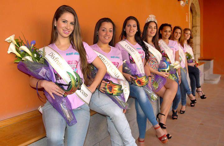 Candidatas a Reina del Carnaval de Telde 2014