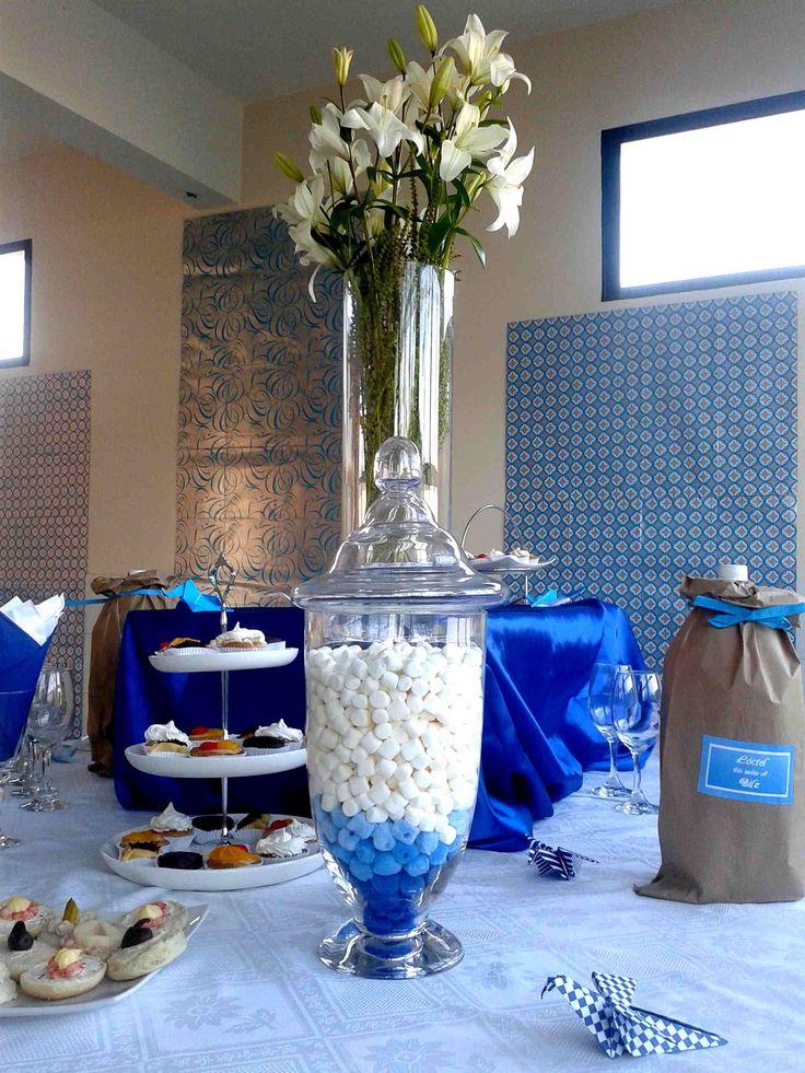 Detalles decoración mesa cocktail.