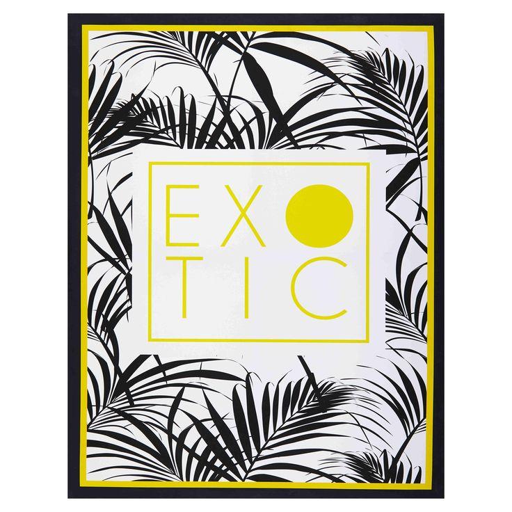 Tela con stampe tropicali gialle e nere 70x90cm EXOTIC