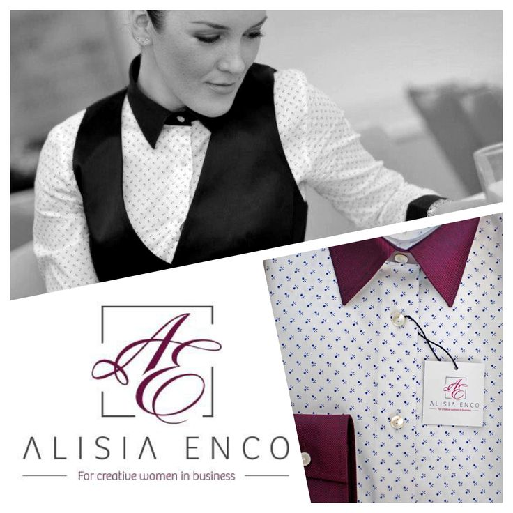 A subtle note of feminity, high-quality cotton fabric with a dash of small roses, all adorned with burgundy-colored collar and cuffs. This unique ALISIA ENCO Creative Business shirt can be found here: http://bit.ly/Creative-Business-burgundy