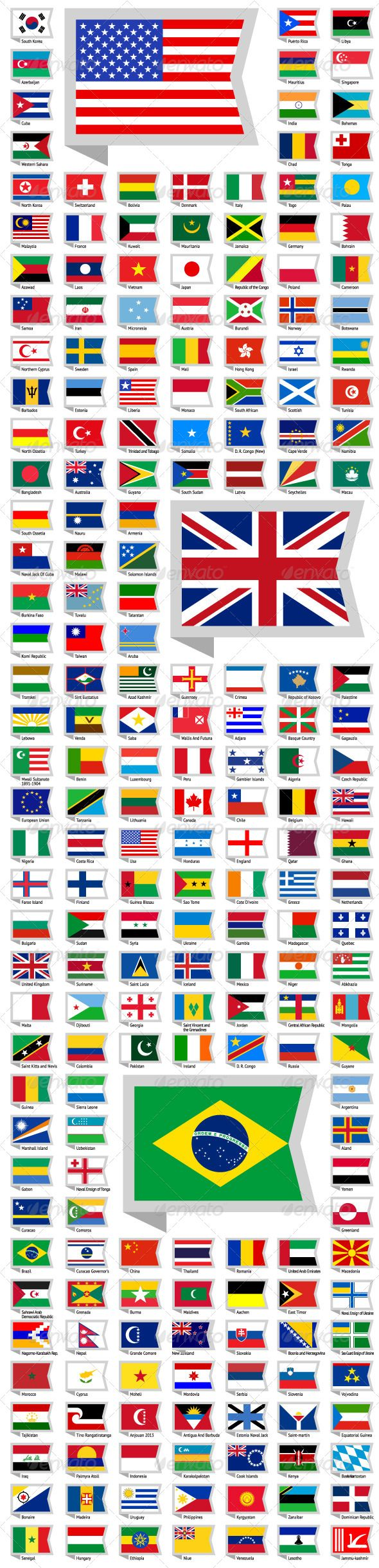 219 Flags of World ...  all national flags, america, atlas, background, badge, continent, country, design elements, east, flag, flat icons, geography, government, land, map, national, navigation, north, oceania, pictogram, republic, sign, south, sovereign state, states, symbols, travel, web, west, world