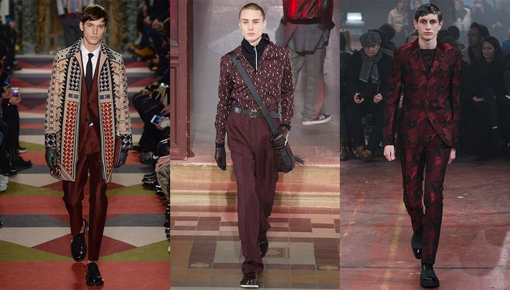 With an appearance in all of the biggest shows, #burgundy is the clear front-runner for color of the season. #Winter calls for warm, comforting tones such as the wine or purple shades showcased by Lanvin, Dior Homme, Valentino, Berluti and Alexander McQueen.